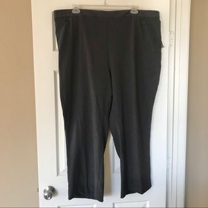Catherine's 3x petite pull on gray pants - NWT